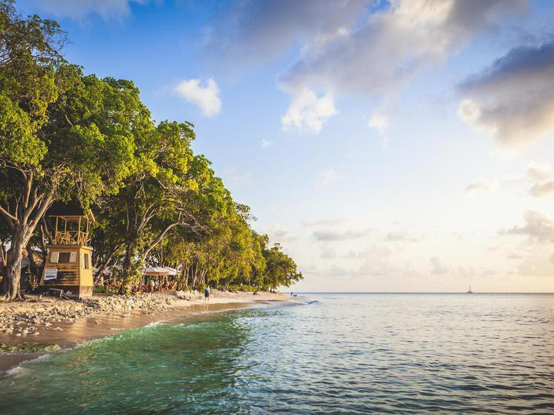 Beach in West Coast of Barbados