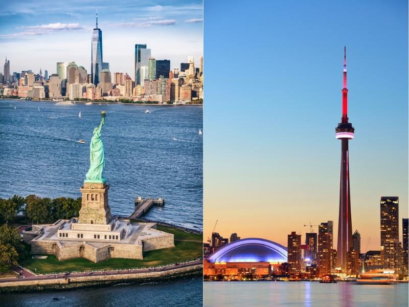 NYC and Toronto