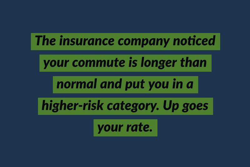 commuting insurance costs