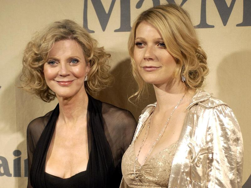 Gwyneth Paltrow (right) and her mother, Blythe Danner, arrive at the Women in Film 2004 Crystal and Lucy Awards in Los Angeles 2004.