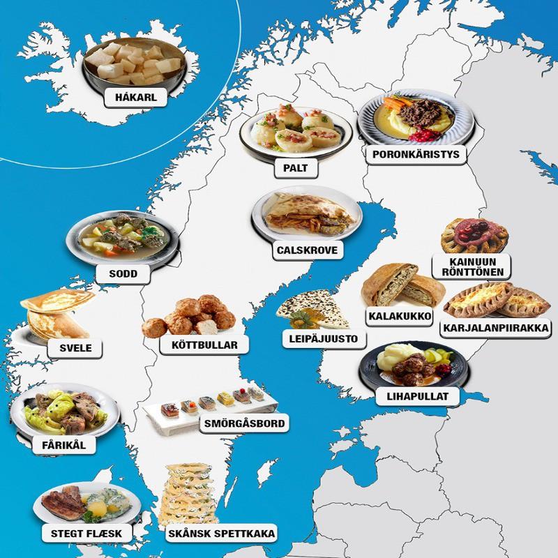Scandinavian food map