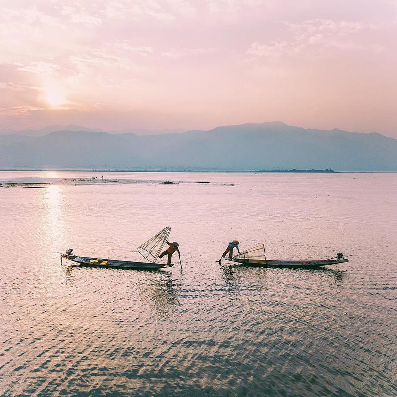 Men fishing in Vietnam