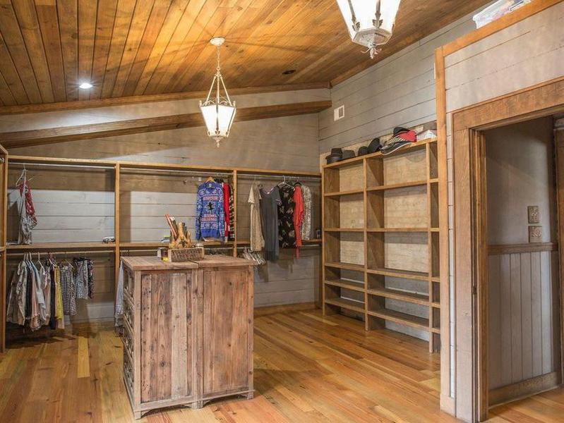 Rustic master closet