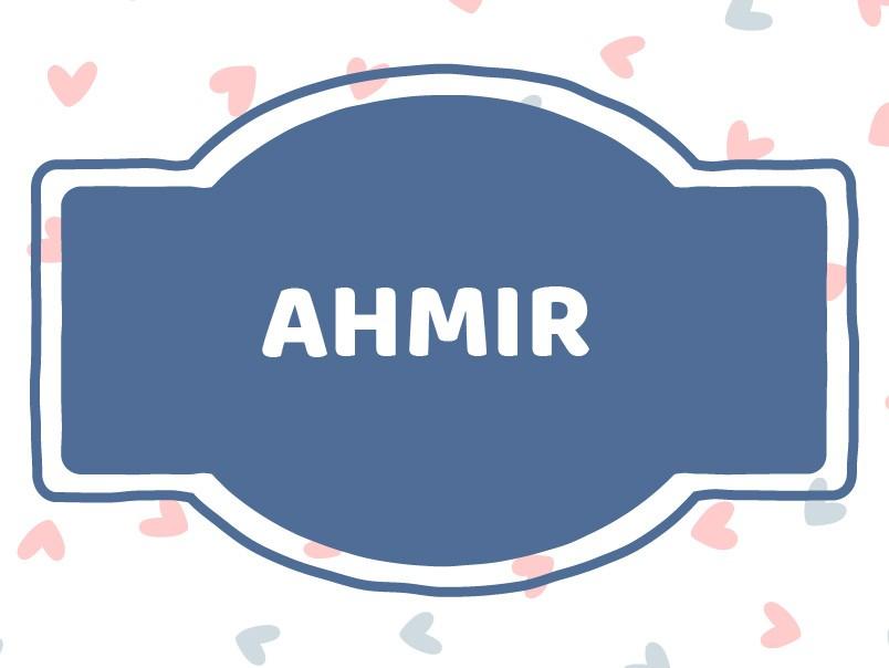 'A' Names for Boys: Ahmir