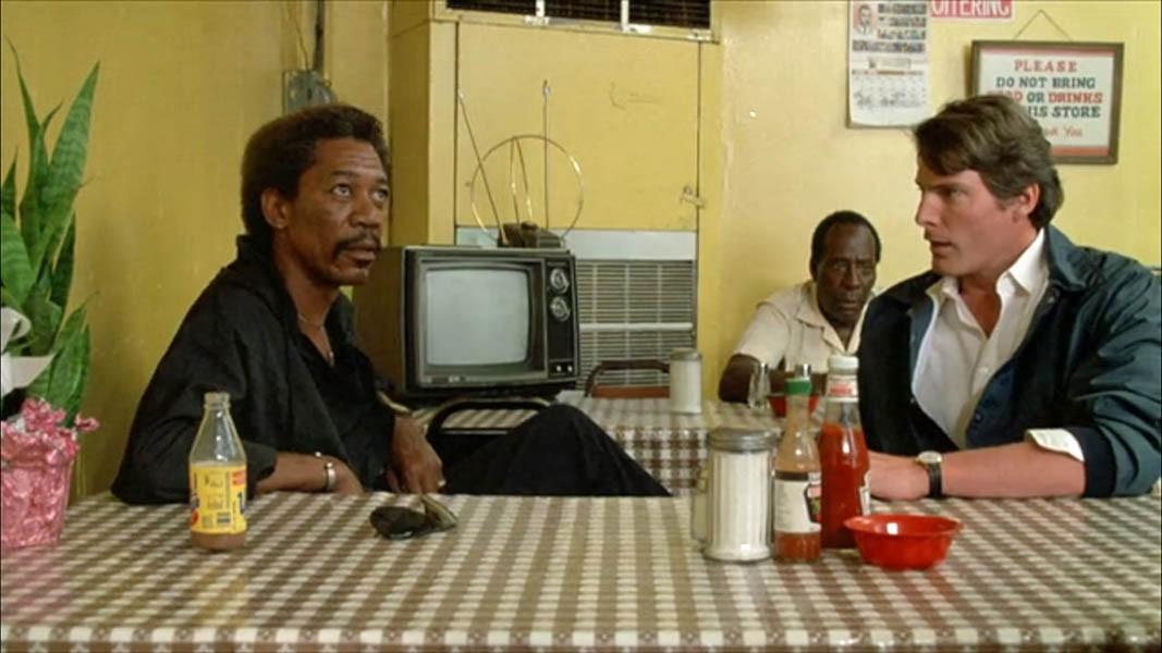 Morgan Freeman and Christopher Reeve