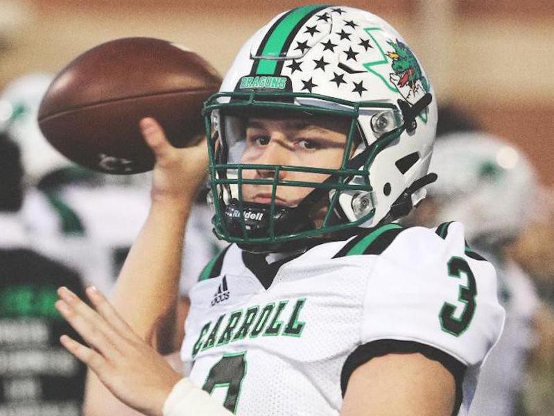 Southlake Carroll High quarterback Quinn Ewers