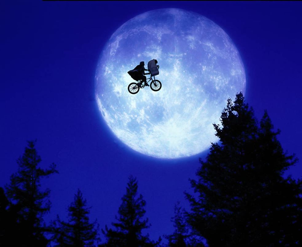 E.T. going over the moon