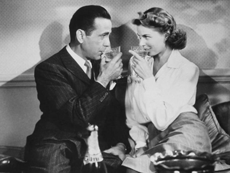 Ingrid Bergman and Humphrey Bogart in Casablanca
