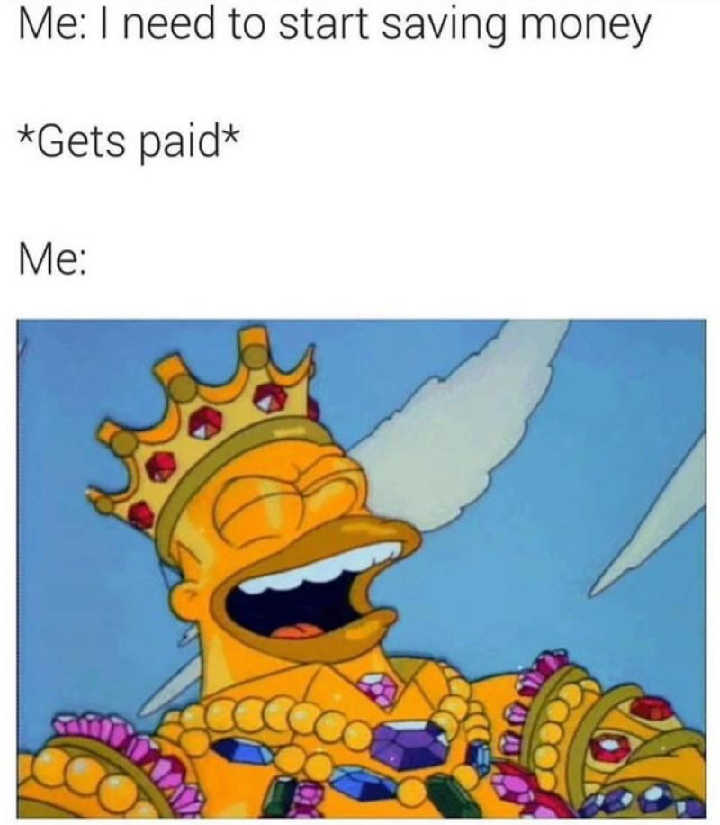 King Homer meme