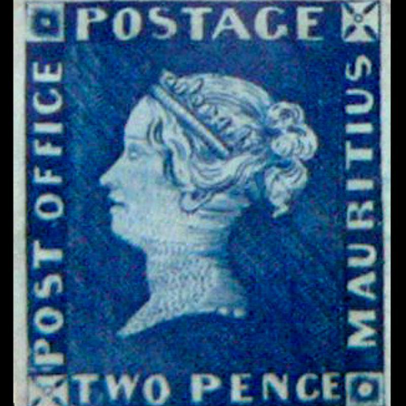 Mauritius Post Office Two Penny Blue