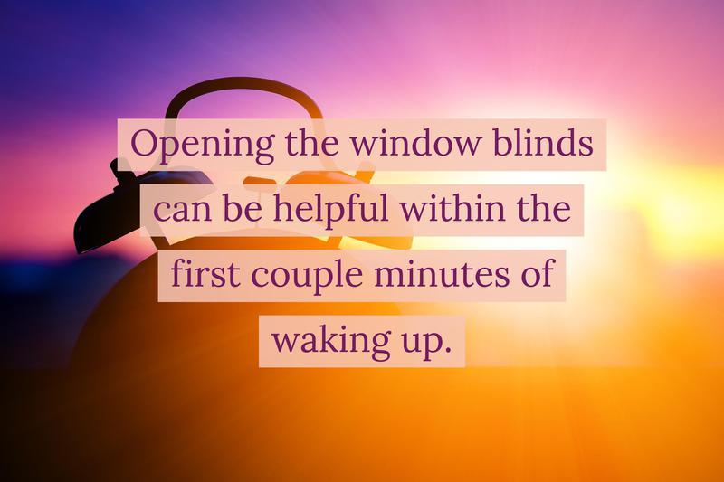 natural light open blinds