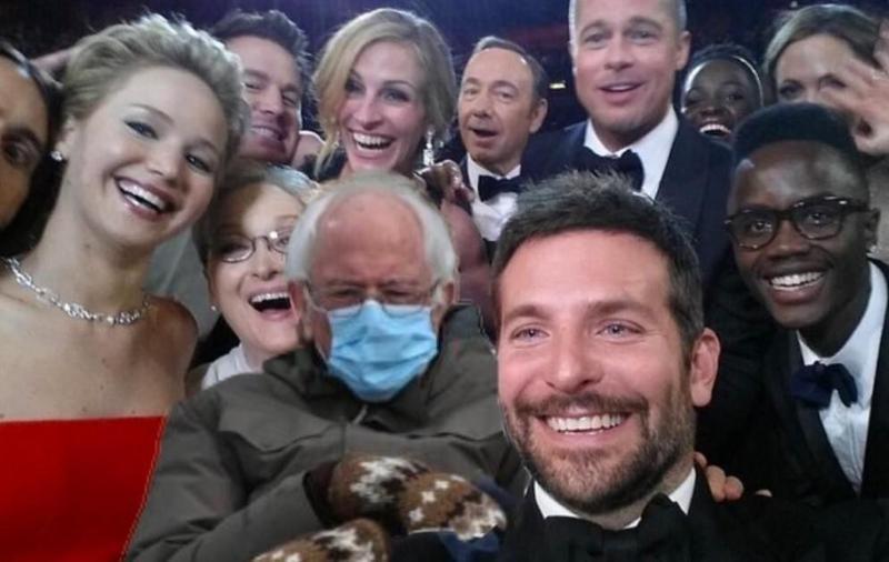 Bernie Sanders in Oscars Selfie