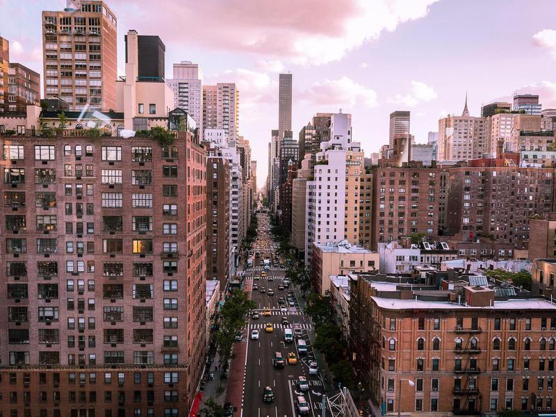 First Avenue in Manhattan from the Roosevelt Island Tram