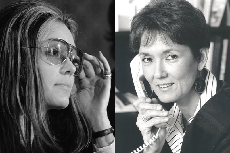 Gloria Steinem and Irina Dunn