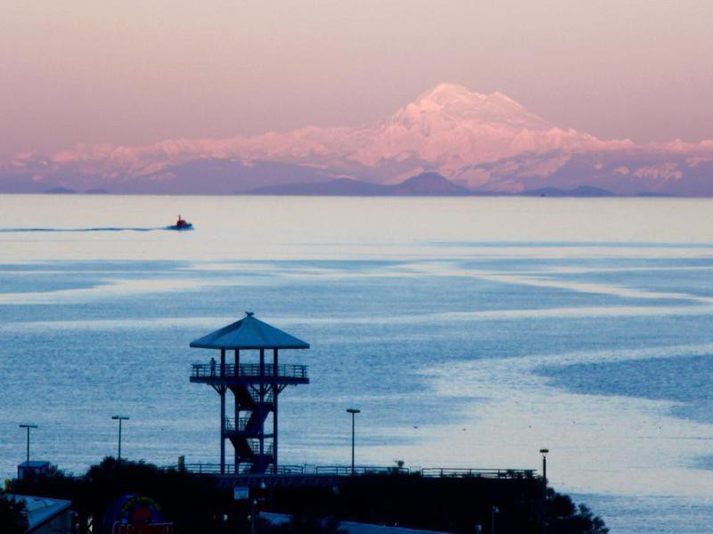 View From Port Angeles To Snowcapped Mt Baker