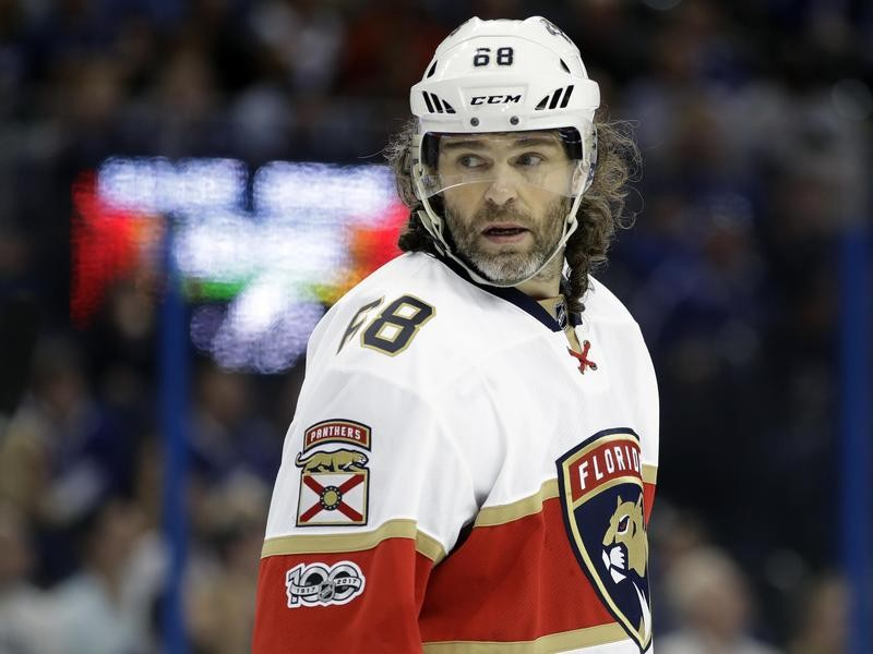 Jaromir Jagr with the Florida Panthers