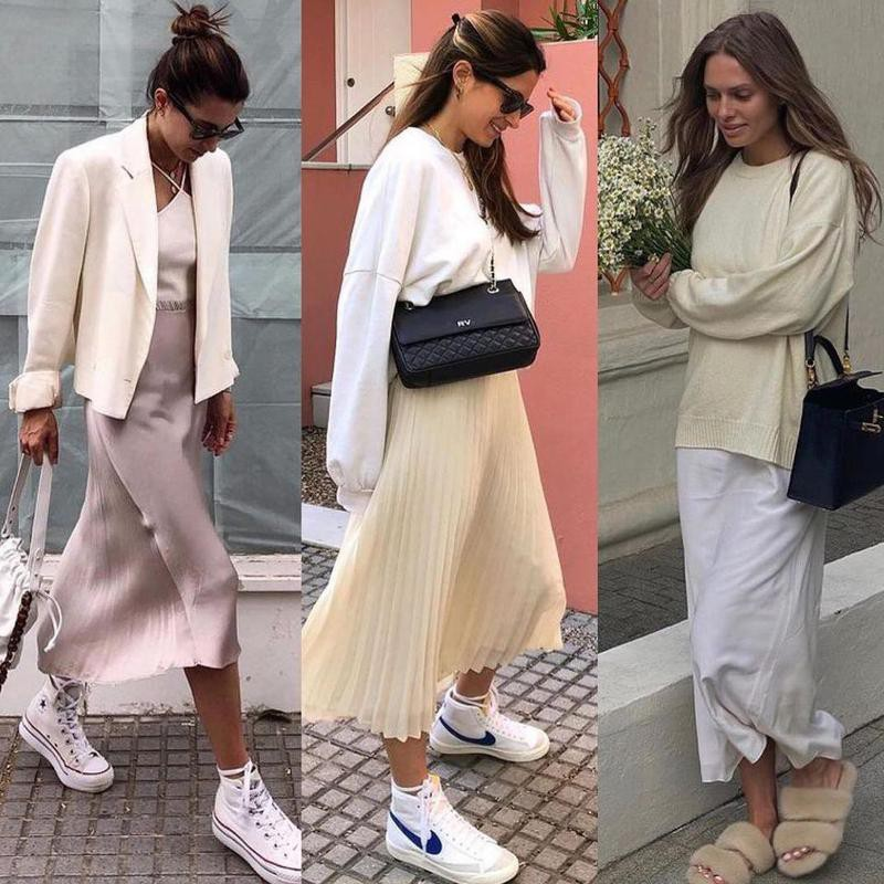 Cream colored outfits