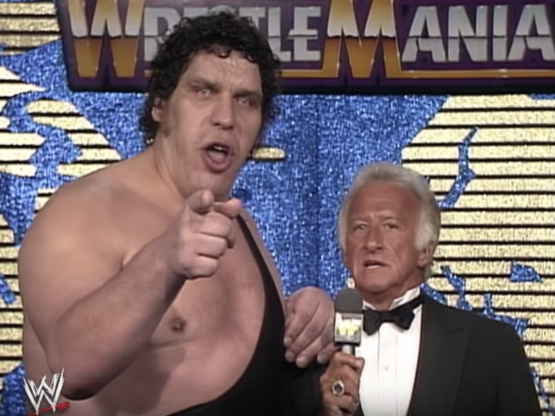 Bob Uecker and Andre the Giant