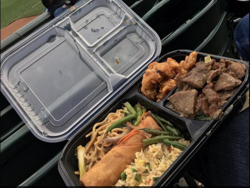 Edsel Ford Fong combo with broccoli beef and orange chicken