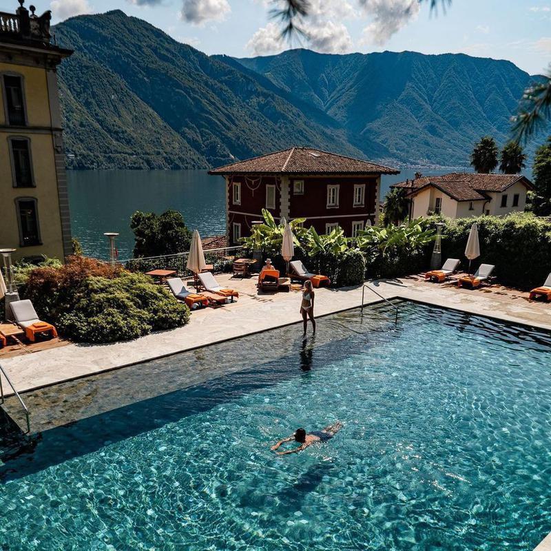 Mountain View Pool in Lake Como
