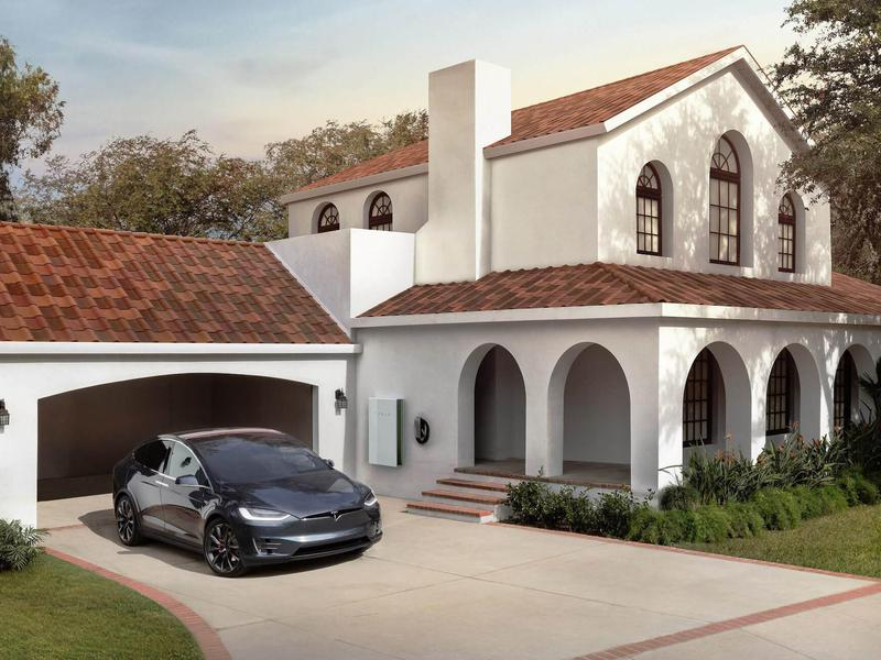 Tesla solar roof picture