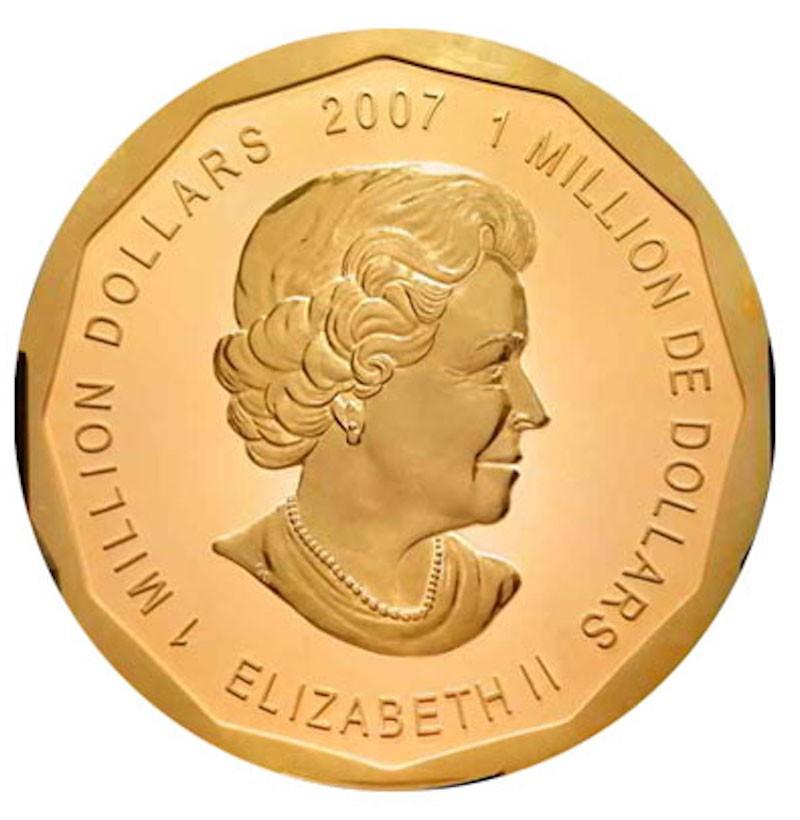 2007 Queen Elizabeth II Million Dollar Coin