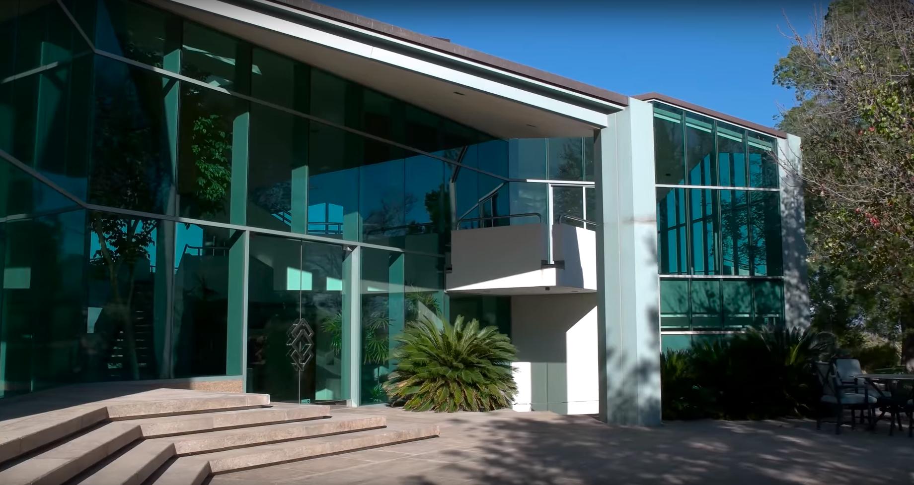 Pharrell Williams' glass house in Beverly Hills