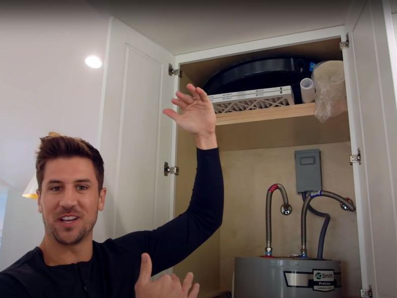 Hidden water heater