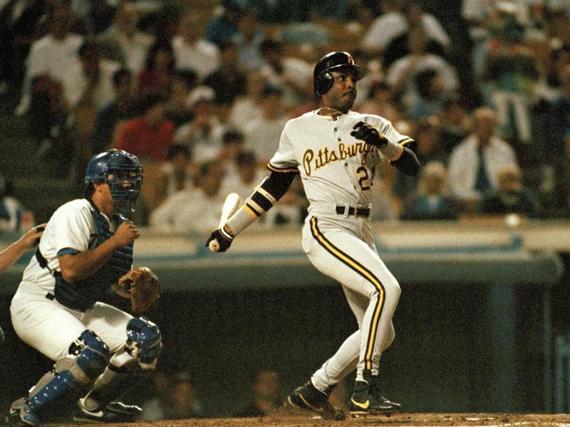 Barry Bonds at bat against Dodgers