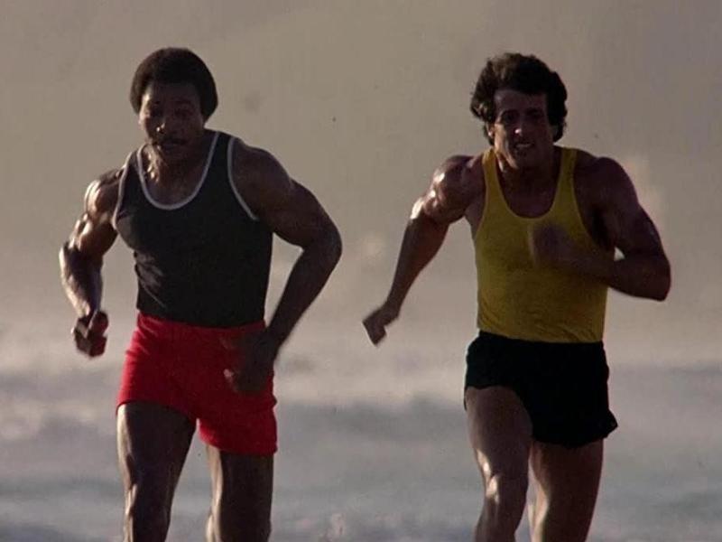 Apollo Creed and Rocky Balboa