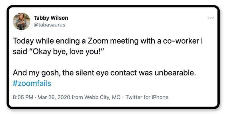 Silent eye contact
