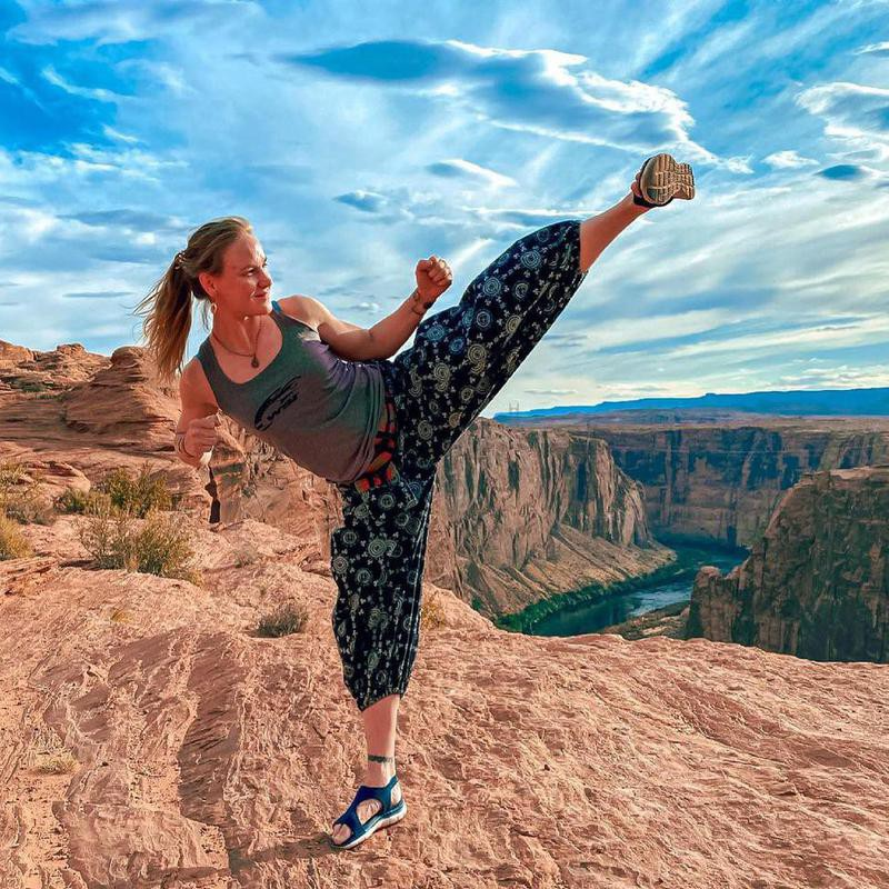 Valentina Schevchenko doing martial arts