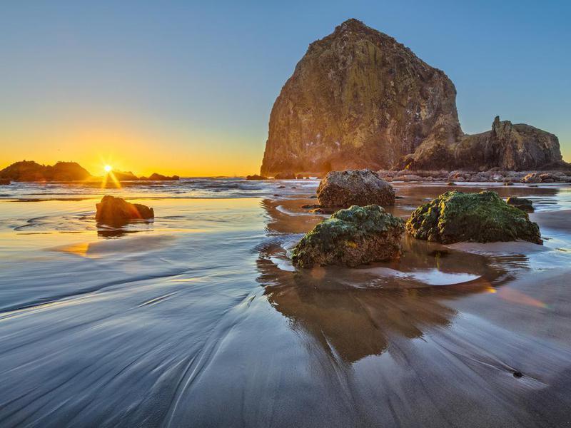 Sunset on Cannon Beach, Oregon