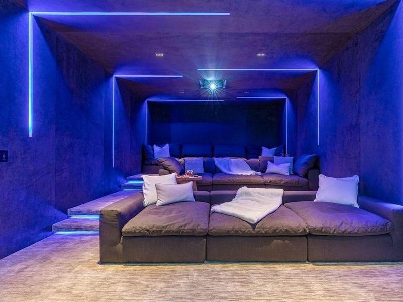 LED-lit movie theater