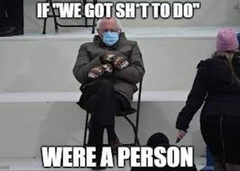 Bernie Sanders has things to do