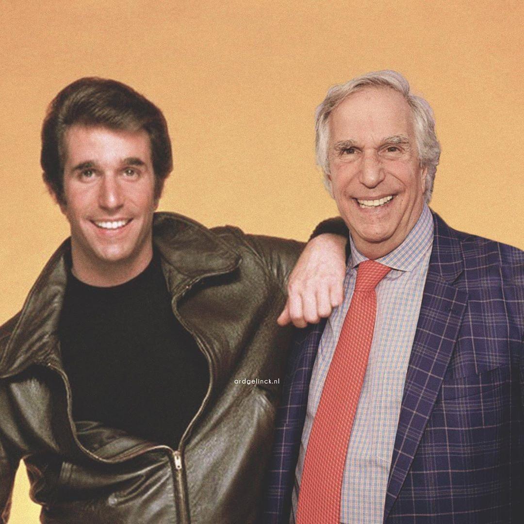 Henry Winkler and Arthur Fonzarelli