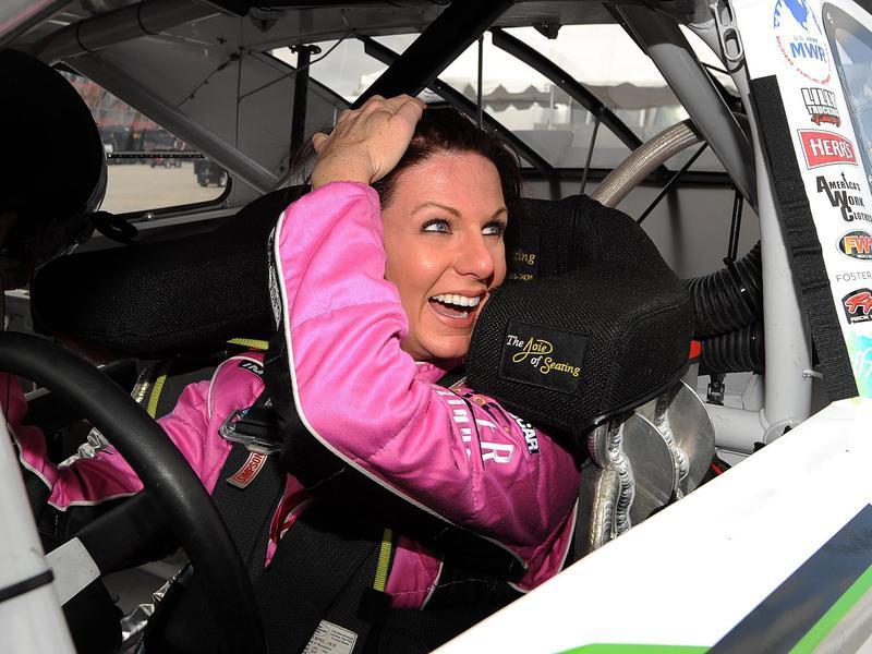 Jennifer Jo Cobb smiling in car