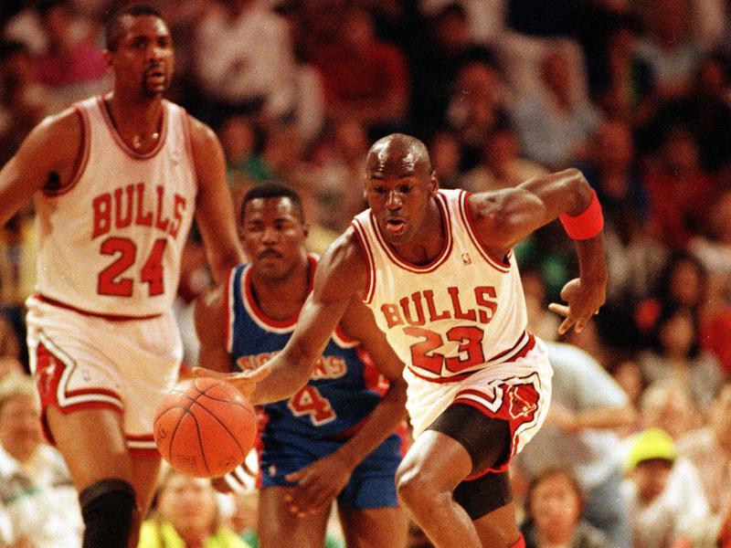 Michael Jordan and Bill Cartwright