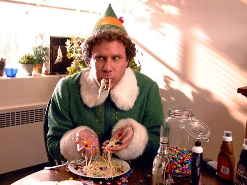Buddy the Elf's breakfast