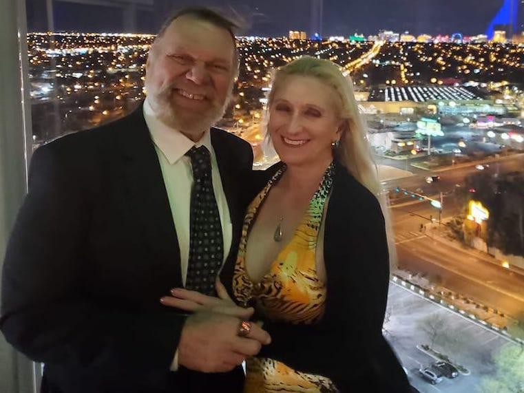Jim Duggan and wife