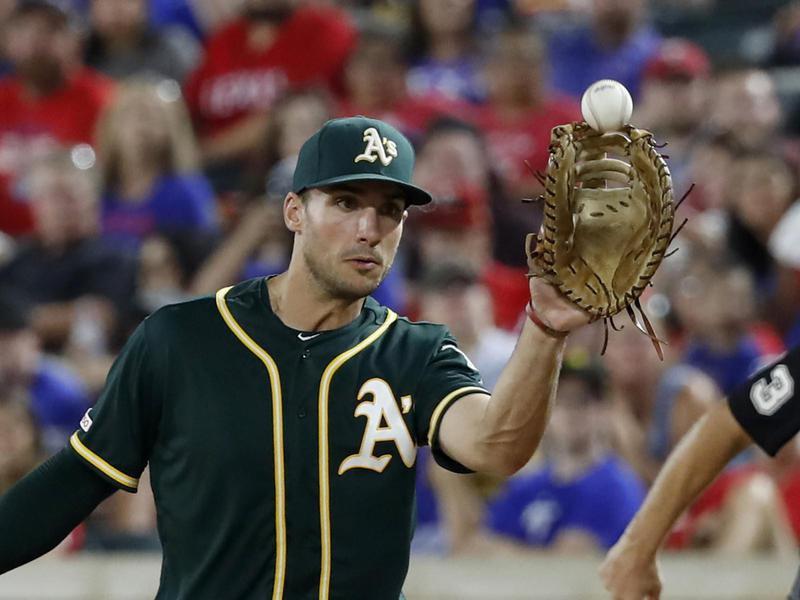 Oakland Athletics first baseman Matt Olson