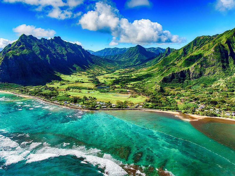 Kualoa area of Oahu, Hawaii