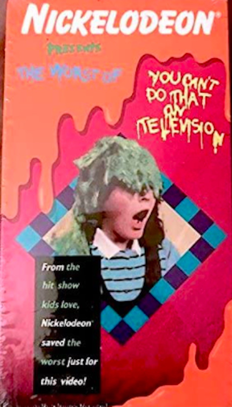 The Worst of 'You Can't Do That On Television' VHS tape