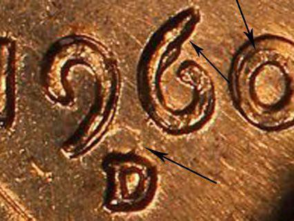 1960 D Lincoln Memorial Cent (D Over D - Small Date Over Large Date)