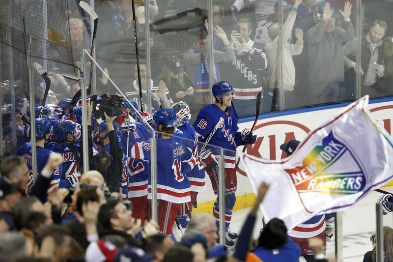 New York Rangers celebrate