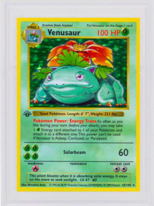 1999 First Edition Shadowless Holo Venusaur