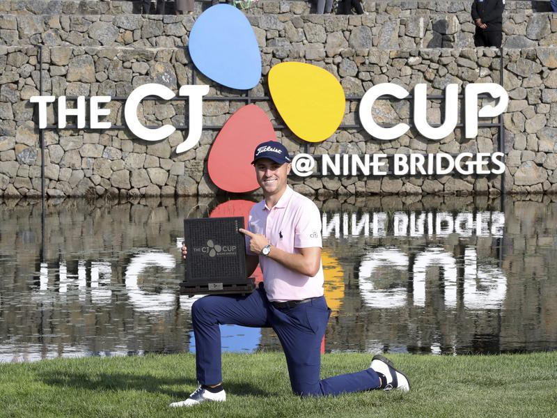 Justin Thomas after wining the 2019 CJ Cup