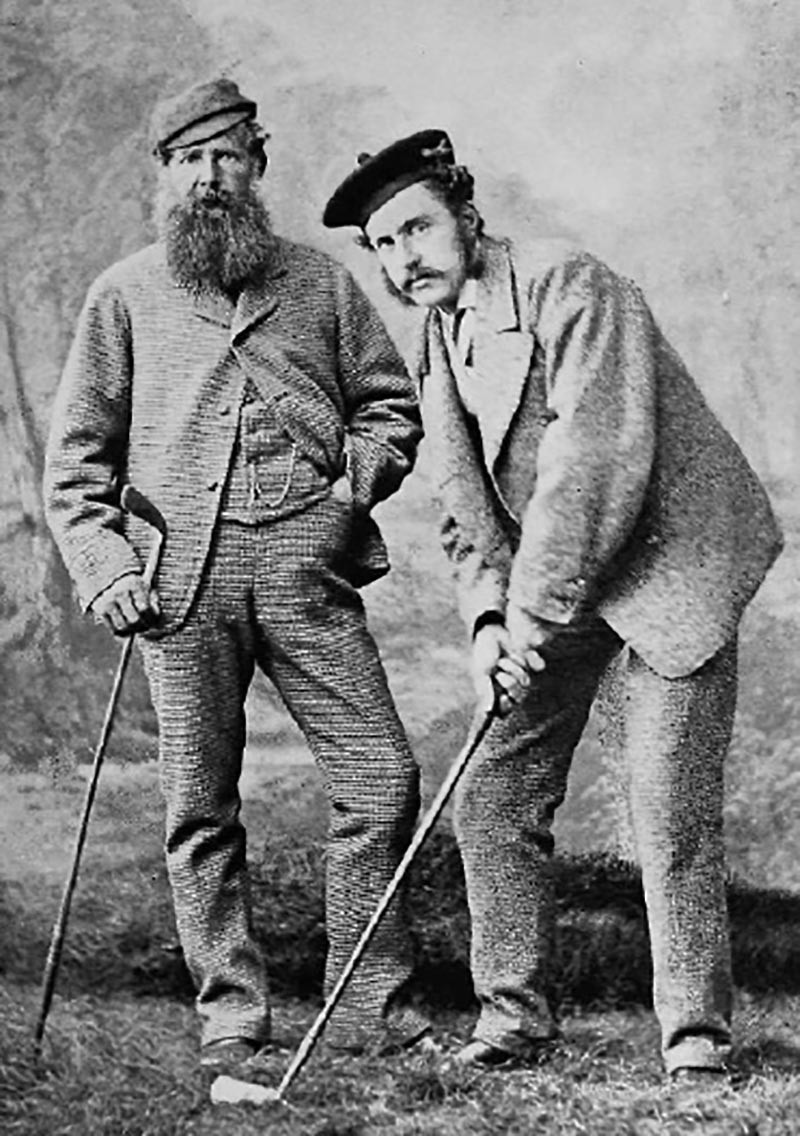 Young Tom Morris with his father