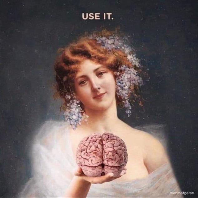 Brain painting meme