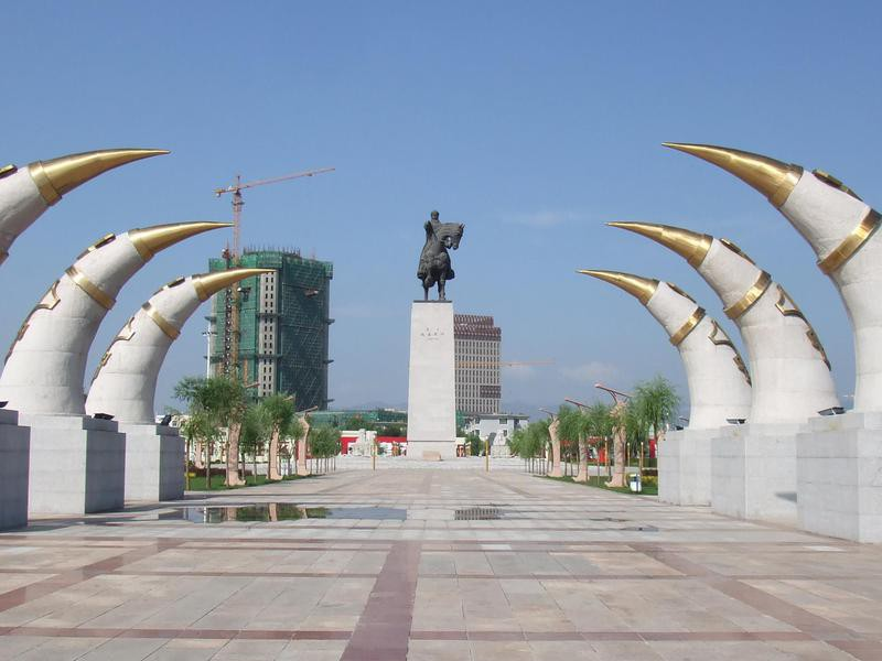 Monument of Genghis Khan in Hohhot, Inner Mongolia, China